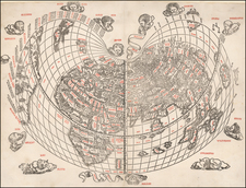 World Map By Bernardus Sylvanus
