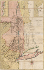 New York State and Mid-Atlantic Map By John Montresor