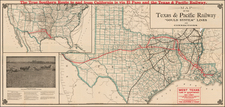 Texas, Plains and Southwest Map By Woodward & Tiernan Printing Company