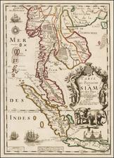 Southeast Asia Map By Pierre Du Val / Augustin  Dechaussé
