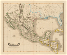 Texas, Plains, Southwest, Rocky Mountains and Mexico Map By William Home Lizars