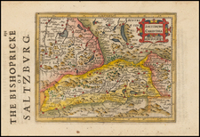 Austria Map By Jodocus Hondius - Michael Mercator