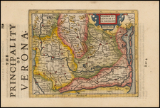 Italy and Northern Italy Map By Henricus Hondius - Gerhard Mercator