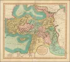Turkey, Middle East and Turkey & Asia Minor Map By John Cary