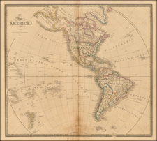 South America and America Map By James Wyld