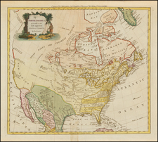 United States and North America Map By Thomas Conder