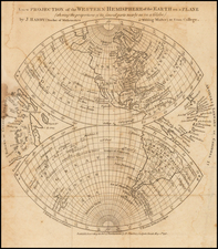 Western Hemisphere, South America and America Map By Gentleman's Magazine