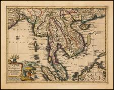 Southeast Asia Map By Pieter van der Aa