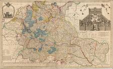 Netherlands, Switzerland, Germany, Austria, Hungary, Romania, Czech Republic & Slovakia and Balkans Map By Herman Moll
