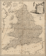 England Map By Thomas Kitchin