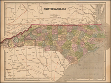 Southeast and North Carolina Map By Charles Morse