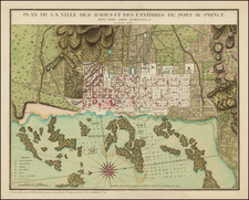 Caribbean and Hispaniola Map By Rene Phelippeaux