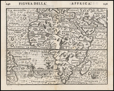 Africa and Africa Map By Giuseppe Rosaccio