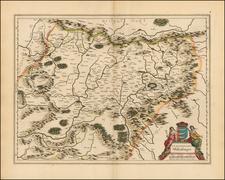 Romania Map By Willem Janszoon Blaeu
