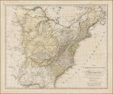 United States, Mid-Atlantic, South and Midwest Map By Daniel Friedrich Sotzmann