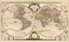 World and World Map By Johannes Covens  &  Pieter Mortier