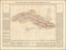 Caribbean and Cuba Map By Jean Alexandre Buchon