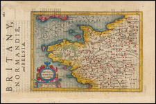 France Map By Henricus Hondius - Gerhard Mercator