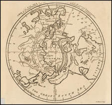 Polar Maps, Alaska, Canada and Central Asia & Caucasus Map By Gentleman's Magazine