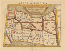 Central Asia & Caucasus, Middle East and Persia Map By Sebastian Munster