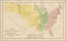 United States Map By Jean Alexandre Buchon
