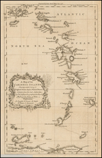 Caribbean and Other Islands Map By Gentleman's Magazine