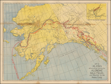 Alaska and Canada Map By Anonymous
