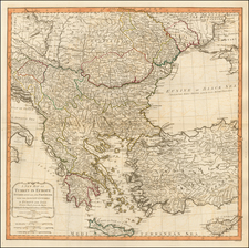 Balkans, Greece, Turkey and Turkey & Asia Minor Map By Laurie & Whittle