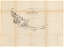 Map of Profile of the Cañada de las Uvas; from Explorations and Surveys . . . 1853 By U.S. Pacific RR Survey