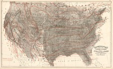 United States Map By Gray  &  Henry Francis Walling