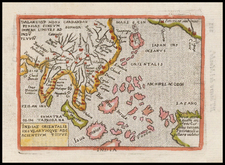 Alaska, China, Japan, Southeast Asia and Australia Map By Abraham Ortelius