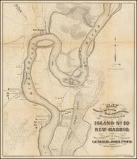 South, Plains and Civil War Map By United States War Dept.