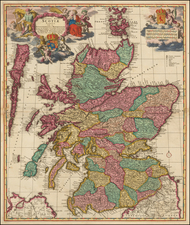 Scotland Map By Nicolaes Visscher I