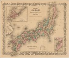 Japan Map By Joseph Hutchins Colton