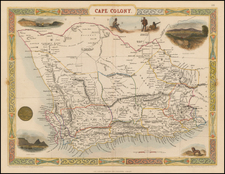 South Africa Map By John Tallis