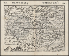 Western Hemisphere, South America and America Map By Giuseppe Rosaccio