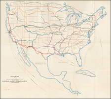 United States Map By United States Pacific Railway Commission