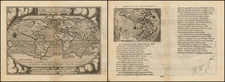 World, World, South America and America Map By Abraham Ortelius / Philippe Galle