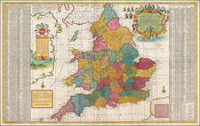 England Map By Herman Moll