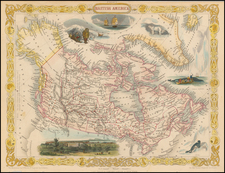Polar Maps, Alaska and Canada Map By John Tallis