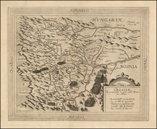 Balkans and Croatia & Slovenia Map By Cornelis de Jode