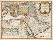 Turkey, Mediterranean, Middle East and Turkey & Asia Minor Map By Nicolas Sanson