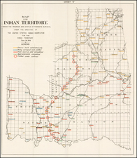 Oklahoma & Indian Territory Map By United States Department of the Interior