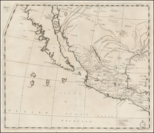 Texas, Southwest, Mexico, Baja California and California Map By Giovanni Battista Nicolosi