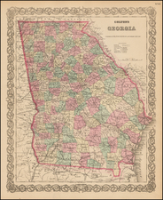 Southeast Map By G.W.  & C.B. Colton