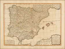 Spain and Portugal Map By James Whittle / Robert Laurie