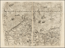 Indian Ocean, India, Other Islands, Central Asia & Caucasus and Middle East Map By Giovanni Battista Ramusio