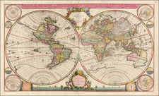 World and World Map By Johannes Covens  &  Cornelis Mortier