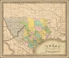 Texas Map By Jeremiah Greenleaf