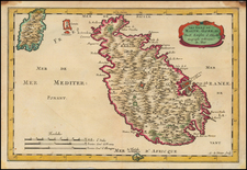 Italy and Malta Map By Nicolas Sanson